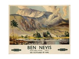 Ben Nevis  Poster Advertising British Railways  C1955