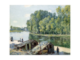 Huts Along the Canal Du Loing  Effect of Sunlight  1896