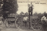British Soldiers Setting Up a Wireless Telegraphy Station  World War I