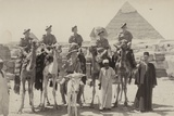 British Soldiers on Camels at the Pyramids of Giza  Egypt  World War II