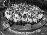 Employee Group Portrait  Within a Section of the Hale Telescope  C1936-48