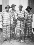 Black Convicts on a Chain-Gang on a Georgia Prison Farm  C1920