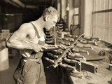 Factory Worker at the Paragon Rubber Company  Massachusetts  1936