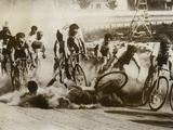 Crash at a Bicycle Race in Milwaukee  Wisconsin  1934