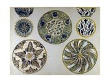 Studies for Ceramic Plates and Cups with Plant Motifs Decorations  1907-1909
