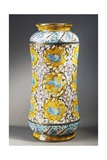Vase with Fauvisme Style Plants and Light Blue Birds Decoration  1909