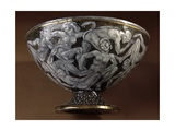Art Deco Bowl with Pedestal Decorated with Intertwined Anthropomorphic Figures  1907-1909  Ceramic