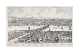 Panorama of London  Westminster and Southwark  Illustration from 'Maps of Old London'  1543