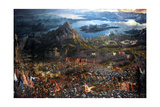 The Battle of Alexander at Issus Oil Painting by the German Artist Albrecht Altdorfer