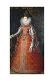 Portrait of the Infanta Isabella Eugenia  Standing Full-Length Wearing a Brocade Dress  1593