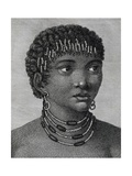 Housouana Woman  Engraving from Travels into Interior of Africa Via Cape of Good Hope