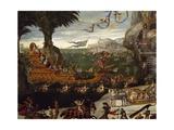 Triumphant Naval Ship of French Royal Family  Detail from L'Acqua  Circa 1640