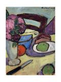 Still Life with Chair and Bouquet; Stilleben Mit Stuhl Und Blumenstrasse  1906