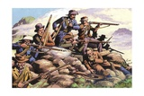 1880  Boers of the Transvaal Fighting at Majuba Hill During the First Boer War