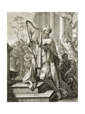 King David Playing the Lyre  1724