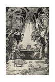The Third Gift an Enormous Hammer  Illustration from 'Myths from Many Lands'  Published 1912