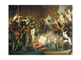 The Oath of the Army after the Distribution of the Eagles on the Champs De Mars  1804