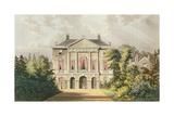 The New Lodge  Richmond Park  from Ackermann's 'Repository of Arts'  Published C1826