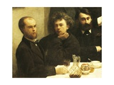 Verlaine  Rimbaud and Bonnier  Detail from Corner of Table  1872