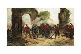 Defense of Porta Capuana or Battle of Volturno  1860
