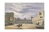 State Arrival of a Royal Visitor  the Quadrangle by Moonlight  Windsor Castle  1838