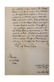 Handwritten Letter to King of Saxony to Accompany Mass in B Minor  Bmw 232 1733