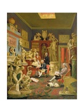 Charles Townley and His Friends in the Towneley Gallery  33 Park Street  Westminster  1781-83