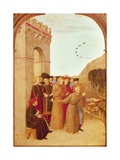 St Francis Speaking with Wolf of Gubbio  from Altarpiece of Holy Sepulchre  1437-1444