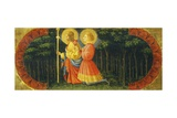 Saints James and Ansano in Prayer  Detail from Quarate Predella