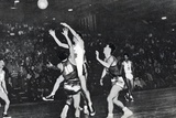 Korean Basketball Player Scoring in the Basketball Qualifying Round  1956 Melbourne Olympic Games