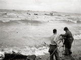 Three Engineers Prepare a Rope to Support a Shipwrecked Soldier Near Omaha Beach