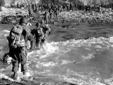Troops of the 5th Engineer Special Brigade Wade Through the Surf at At Fox Green