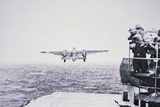 The Doolittle Raid on Tokyo 18th April 1942: One of 16 B-25 Bombers Leaves the Deck of USS Hornet