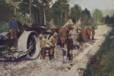 German Troops Building a Road in Captured Enemy Territory  World War I  1914-1916