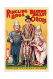 Poster Advertising 'Ringling Brothers and Barnum and Bailey Combined Circus'  C1938
