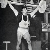 Tommy Kono Winning the Gold Medal for Men's Weightlifting at the 1956 Melbourne Olympics