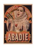 Poster Advertising Riz Abadie Cigarette Papers  Paris  C1900