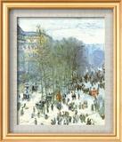 Boulevard Des Capucines Art texturé encadré par Claude Monet