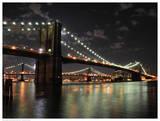 Brooklyn Bridge at Night (color)