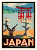 Japanese Government Railways - Hakone Shrine  Lake Ashi  Japan