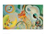 Study for Air, Iron, Water, 1936/1937 Giclée par Robert Delaunay