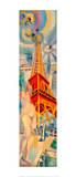 The City Paris. The Woman and the Tower, 1925 Giclée par Robert Delaunay