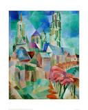 The Towers of Laon, 1912 Giclée par Robert Delaunay