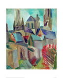 The Towers of Laon Study, 1912 Giclée par Robert Delaunay