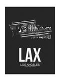 LAX Los Angeles Airport Black