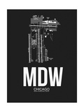 MDW Chicago Airport Black