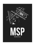MSP Minneapolis Airport Black