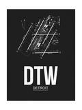 DTW Detroit Airport Black