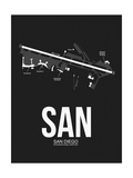 SAN San Diego Airport Black