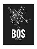 BOS Boston Airport Black